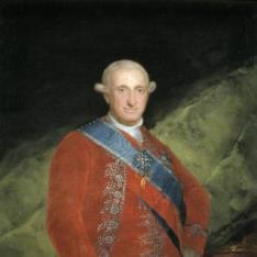 El rey Carlos IV, de rojo