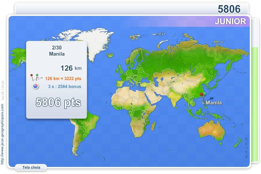Cidades do Mundo Júnior.  Jogos geográficos