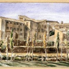 Vista del convento de Santa Rosa en Huesca