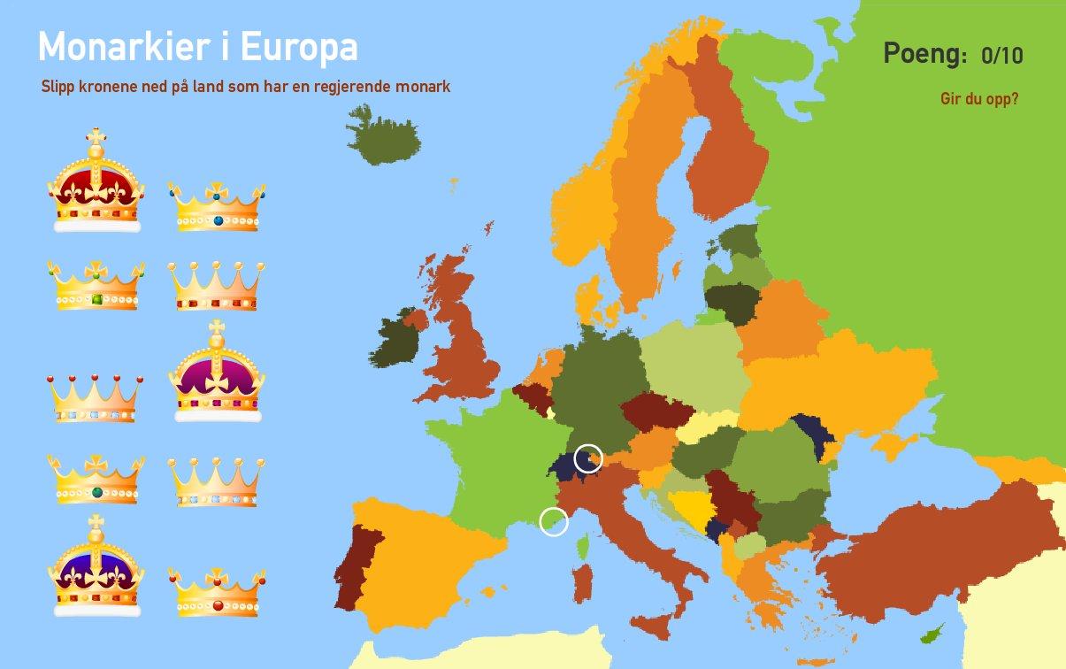 Monarkier i Europa. Toporopa