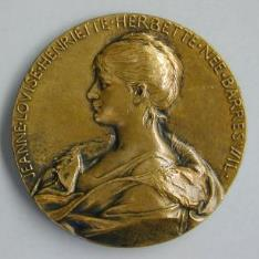 Medalla conmemorativa de Louis Herbette y su esposa Jeanne Louise Henriette