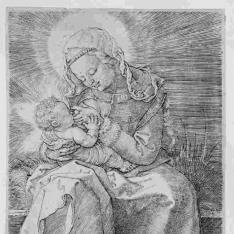 La Virgen dando de mamar al Niño