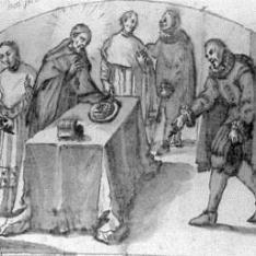 Limosna de santo Tomás de Villanueva al Hospital de Valencia