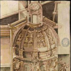 Corte transversal de una capilla
