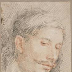 Retrato de caballero / Figura femenina con niño en brazos