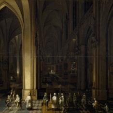 El viático en el interior de una iglesia