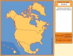Capitales de países de Norte América. Dibujos para pintar