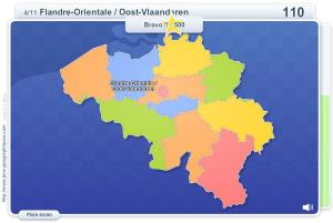 Provinces de Belgique. Jeux géographiques
