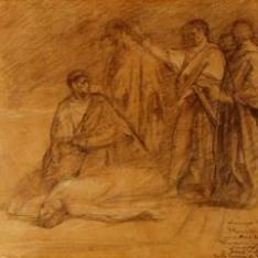 Estudio para La muerte de Lucrecia