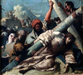 Jesús caído camino del Calvario / Caída de Cristo con la Cruz