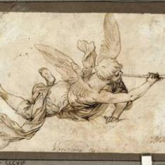 Un ángel con la trompeta del Juicio Final