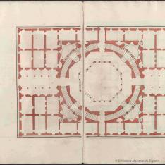 Planta de palacio con planta octogonal