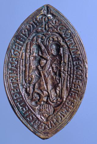 Matriz del sello del cabildo de la iglesia de San Miguel y San Pablo de Estrasburgo (¿?)