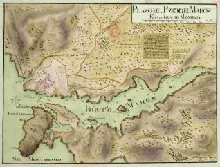 Plano del Puerto de Mahon