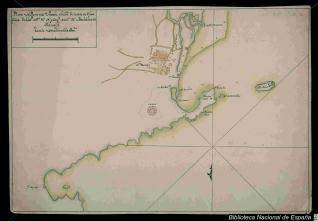 Plano del Puerto de Sta. Marta
