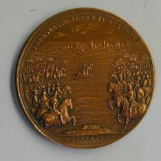Medalla del cardenal Mazarino conmemorativa de la batalla de Casale