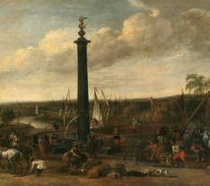 Desembarco de un cortejo en un puerto fluvial