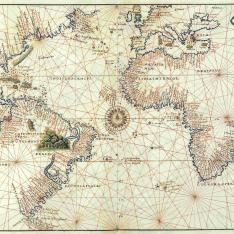 Mapa del Océano Atlántico