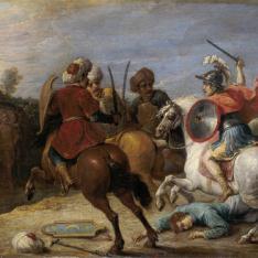 Proezas de Reinaldo frente a los egipcios
