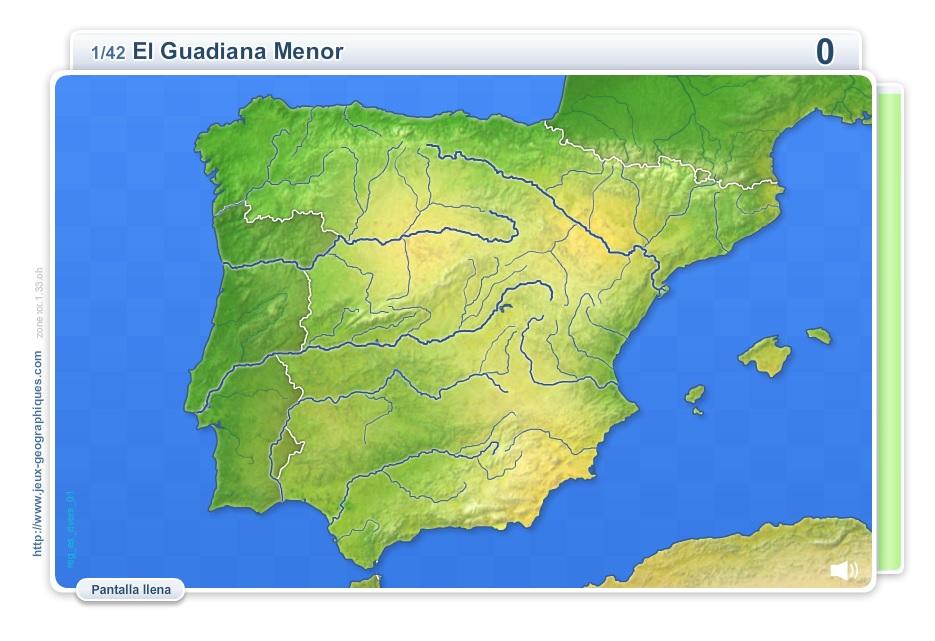 Mapa Interactivo Rios España.Mapa Interactivo De Espana Rios De Espana Juegos
