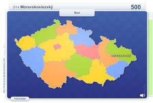 Regions of Czech Republic . Geography map games