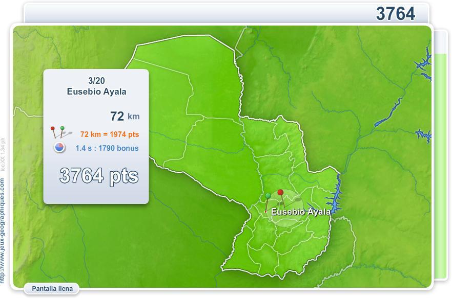 Ciudades de Paraguay. Juegos Geográficos