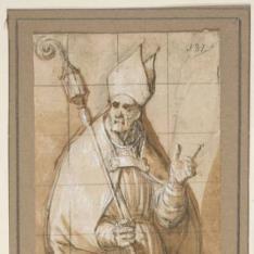 Santo obispo (¿San Agustín?)
