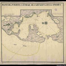 Plano del Puerto y Ciudad de Cartagena en la America