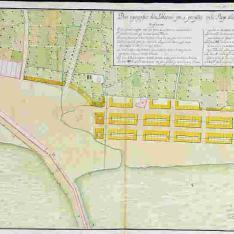 Plano topográfico de la población que se proyecta en la Playa de la Ciudad de Valencia