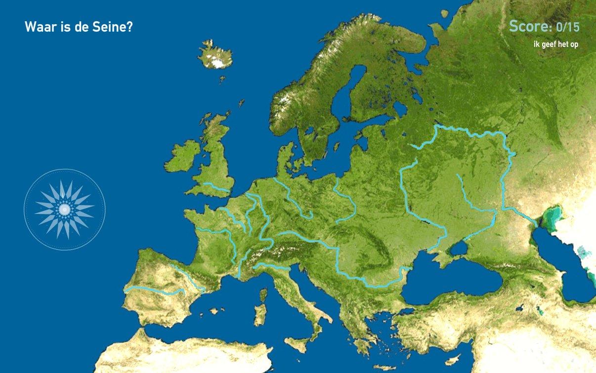 Rivieren van Europa. Toporopa