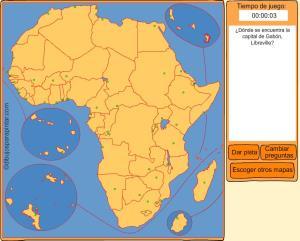 Capitales de países de África. Dibujos para pintar