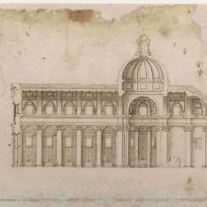 Sección longitudinal de una iglesia