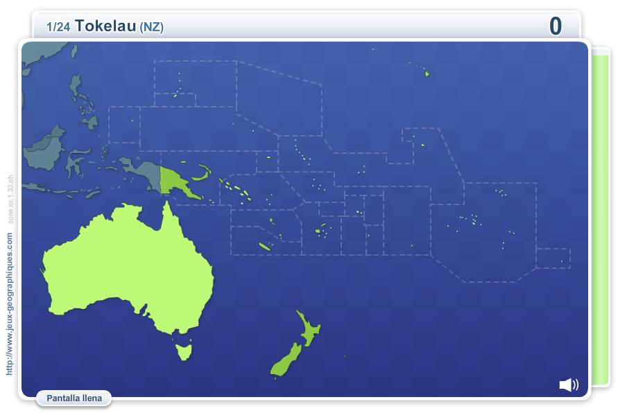 Geo Quizz Oceanía. Juegos Geográficos