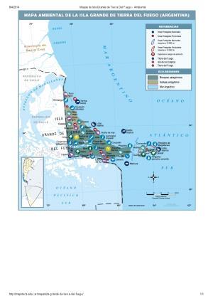 Mapa ambiental de Isla Grande de Tierra del Fuego. Mapoteca de Educ.ar