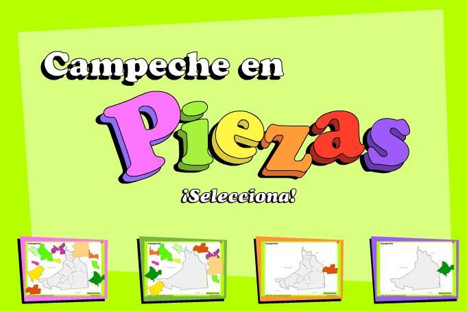 Municipios de Campeche. Puzzle. INEGI de México