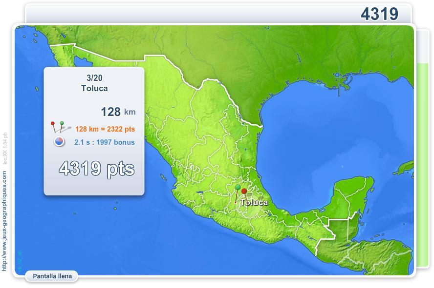 Ciudades de México. Juegos Geográficos
