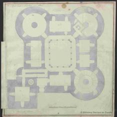 Plantas baja y alta del castillo de los condes de Chinchón en Villaviciosa de Odón, Madrid