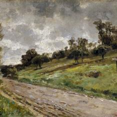Camino de las cercanías de Villerville (Normandía)