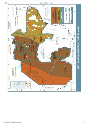 Mapa climático de Salta. Mapoteca de Educ.ar