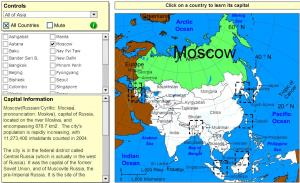 Capitals of Asia. Tutorial. Sheppard Software