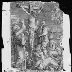 Cristo expirando en la cruz