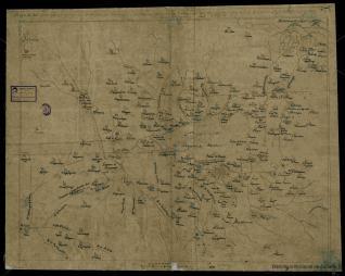 Mapa de las aguas que vienen a la Laguna de Tescuco