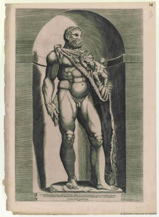El Emperador Cómodo como Hércules