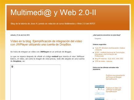 Tutoría en multimedia y Web 2.0
