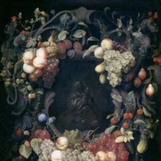 La Virgen con el Niño dentro de un festón de frutas