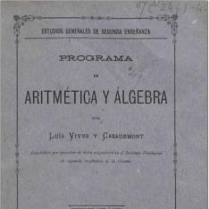 Programa de aritmética y álgebra