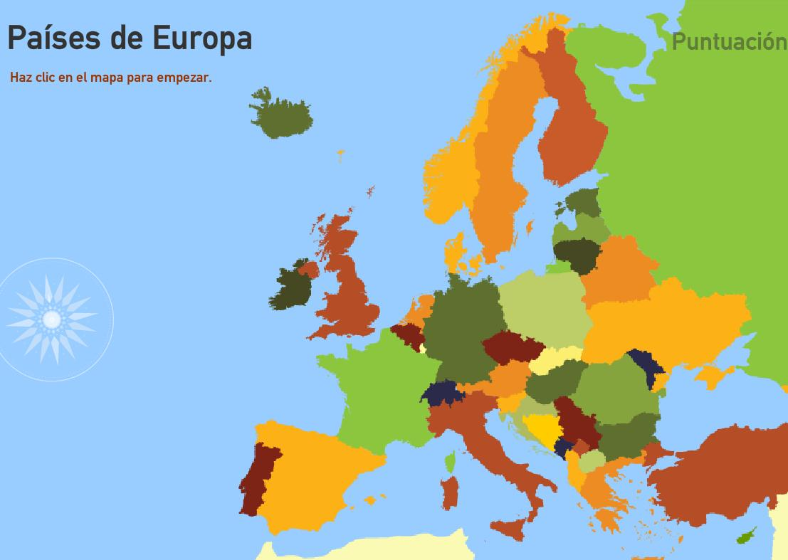Países de Europa. Toporopa