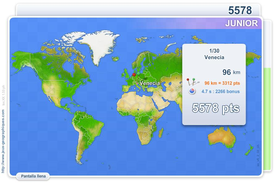 Ciudades de Mundo Junior. Juegos Geográficos