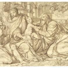 La Virgen y el Niño en un paisaje con San Juan Bautista y San Pablo