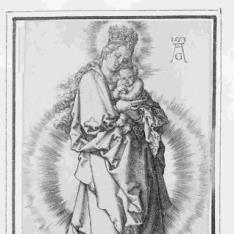 La Virgen de pie con el Niño